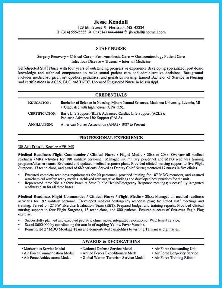 30 best Nursing Career images on Pinterest Nursing schools - crna resume