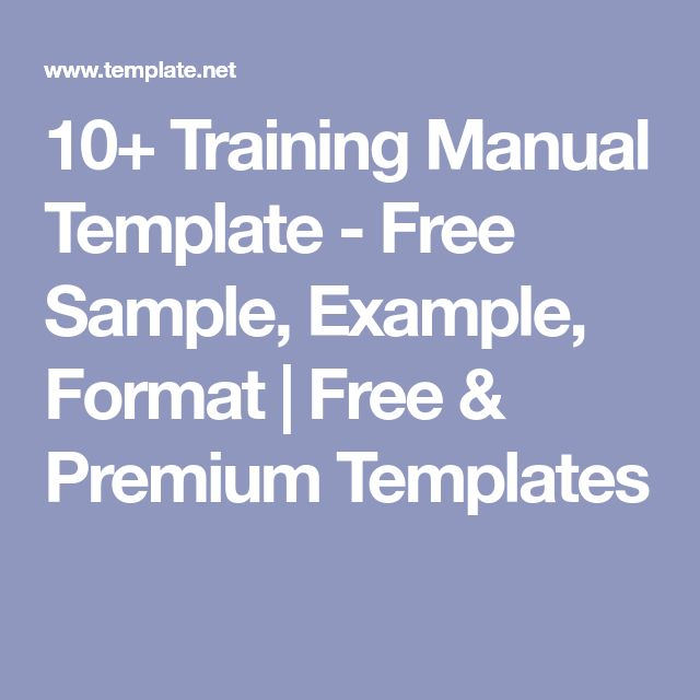 10+ Training Manual Template - Free Sample, Example, Format | Free & Premium Templates