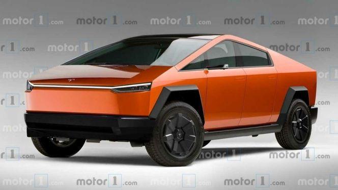 Tesla Cybertruck Render Imagines Changes Required To Reach Production Tesla Tesla Motors Tesla Car