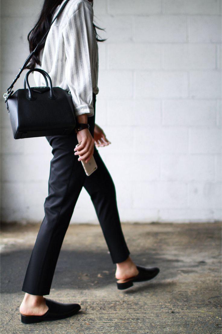 Top - Just Female Trousers - Topshop Shoes - Mango Bag - Givenchy Mini Antigona Bracelet - Celine