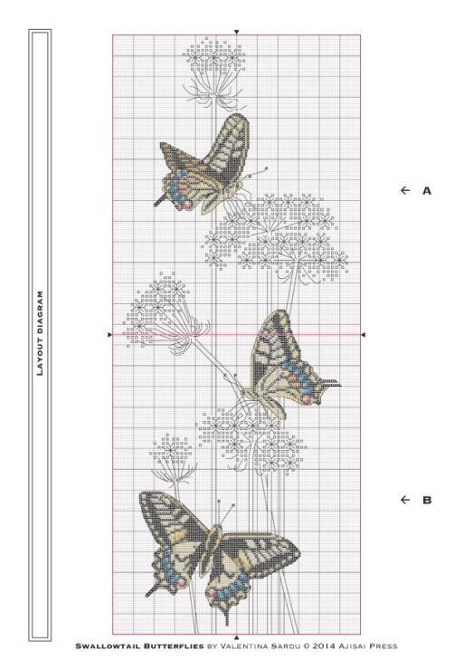 Gallery.ru / Фото #3 - Ajisai Designs - Swallowtail Butterflies - tymannost