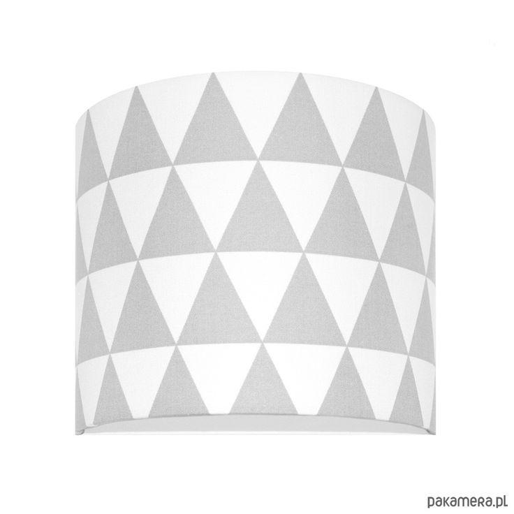 lampy-Kinkiet Trójkąty szare