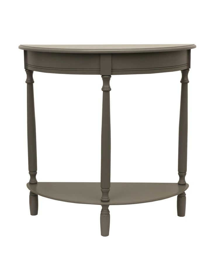 Shop today for Decor Therapy Eased Edge Grey Half Round Table & deals on Entryway Furniture! Official site for Stage, Peebles, Goodys, Palais Royal & Bealls.