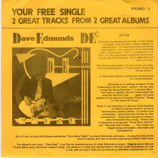 Dave Edmunds, Fashion - From Small Things, Big Things Come / Move On