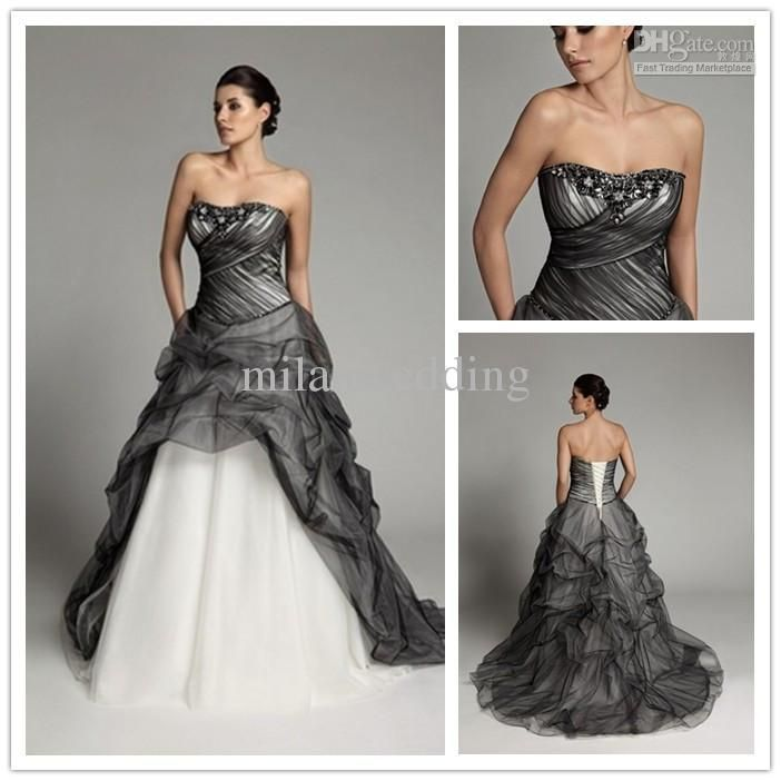 17  images about Black &amp White Wedding Dress on Pinterest ...