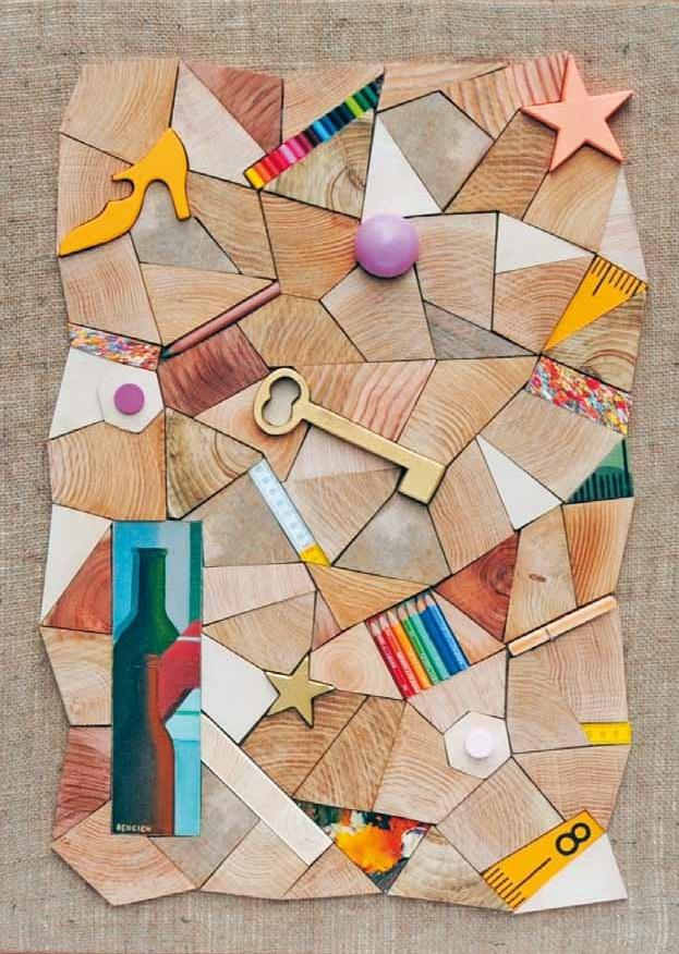 """""""Arte da ardere"""" 2010, tecnica mista: legno e acrilico, 80x60"""