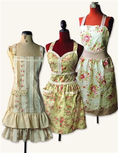 gorgeous aprons from the Victoria Trading Company... looks just like the one my grandma made me <3