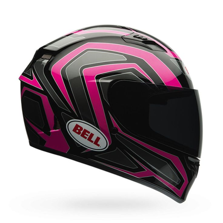 Bell Qualifier Machine Black/Pink Motorcycle Helmet DOT Full-Face