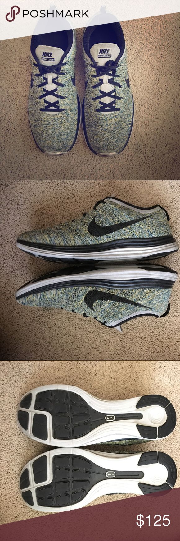 Nike FLYKNIT Lunar Nike Flyknit Lunar 1! Multicolor Men's Trainer Shoe! Size 12US! Bought these Overseas in Amsterdam! Nike Shoes Athletic Shoes