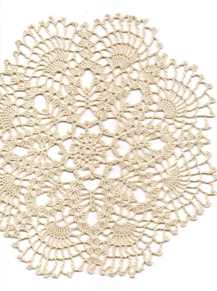 """You are buying a crochet lace doily. Hand crochet beautiful doily, made from ecru crochet cotton. Diameter about 10"""" (25cm). It's a lovely item to decorate your night stand, use as a small centrepiece for a table, put a nice candle holder on it or something else you can imagine using it for. 