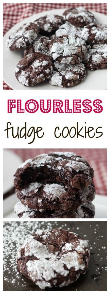 Flourless Fudge Cookies http://www.bostongirlbakes.com/2015/01/02/flourless-fudge-cookies/