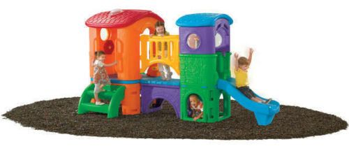 CLUBHOUSE CLIMBER .. Climb, slide and crawl for hours in this giant playset