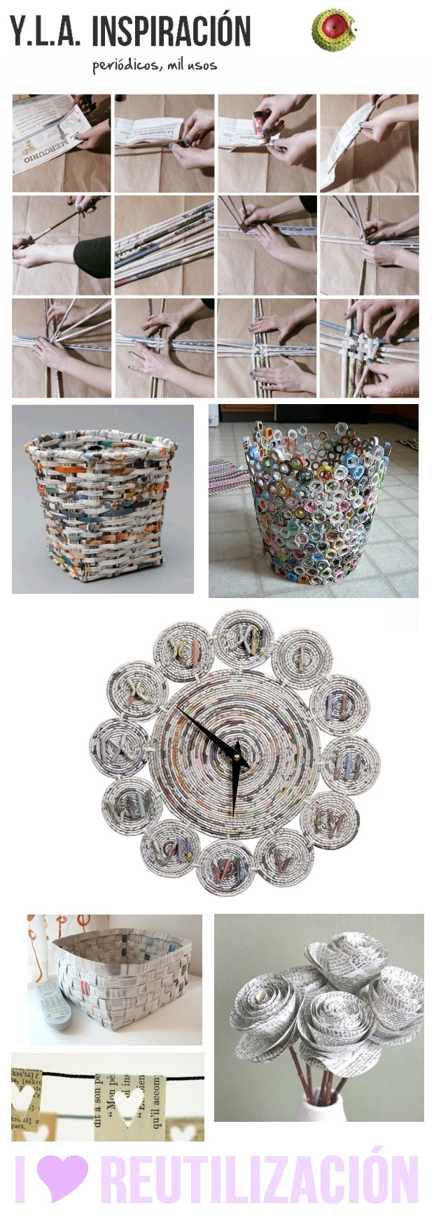 how to reuse old magazines