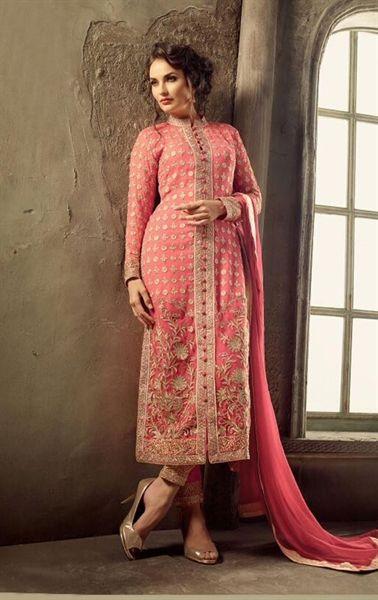 Picture of Iconic Pink Designer Pent Kameez Set