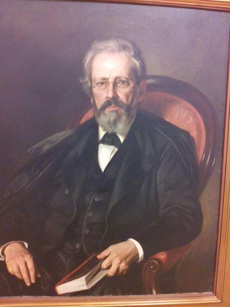 felipe santiago gutierrez texcoco (mexico) 1824-1904 jose manuel groot  1874 oleo sobre tela