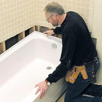 DIY Bathtub Installation | ... Bathtub - How to Repair or Replace a Bath Tub - DIY Plumbing. DIY