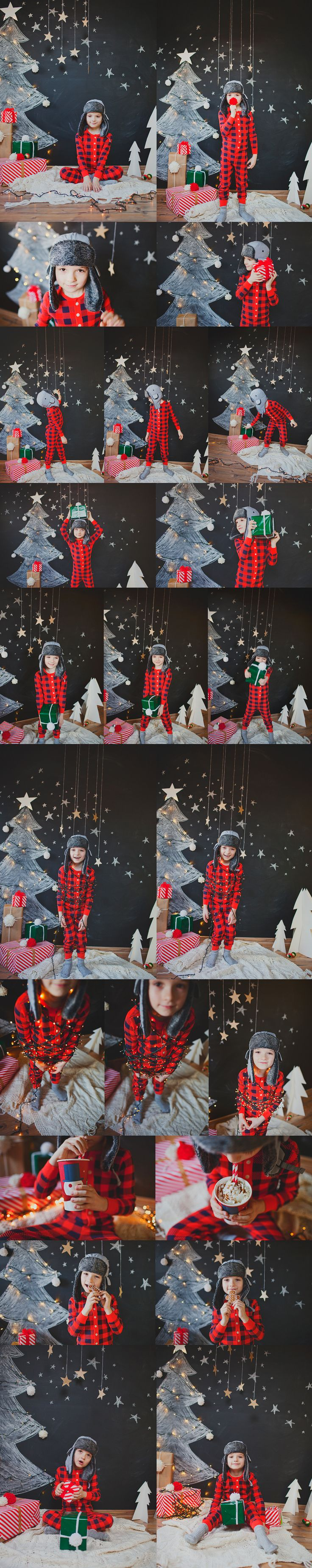 This is an amazingly adorable #Christmas #session done in a #studio. Love the #set #design. © Oh Snap Boutique.
