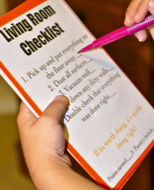 I like these job cards.: Kids Chore, For Kids, Details Chore, Check Lists, Madsen Memories, Chore Lists, Rooms Clean Checklist, Chore Cards, Chore Charts