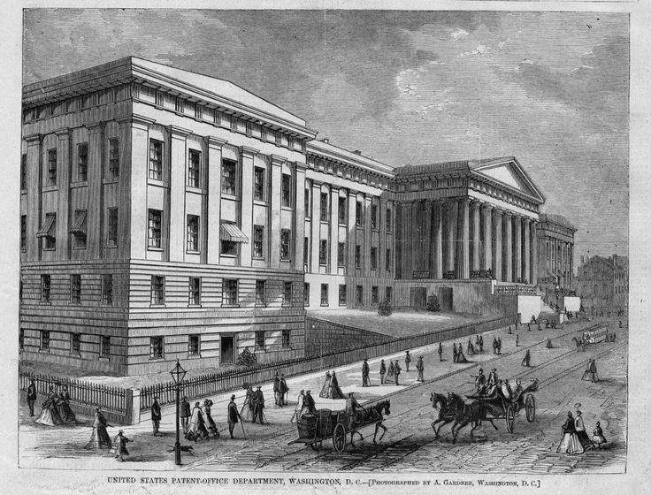UNITED STATES PATENT OFFICE DEPARTMENT WASHINGTON ARCHITECTURE HORSE BUGGY