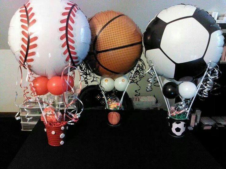 sport party centerpieces