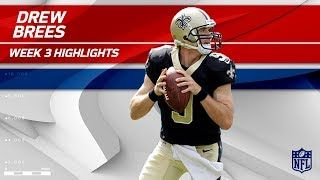 Drew Brees 3 TD Game vs. Carolina | Saints vs. Panthers | Wk 3 Player Highlights