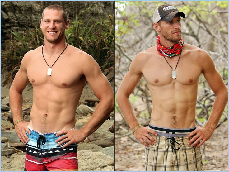 Chase Rice / The Men of 'Survivor: Nicaragua' -Before and After