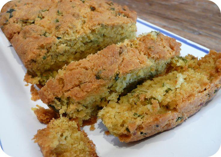 Cake à la farine de pois chiche, oignons et citron (IG bas)