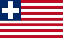 The former flag of Liberia (1827-1847).