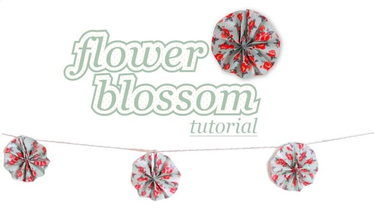 Studio of Mae: Flower Blossom Tutorial: Craft, Tutorials, Paper, Flowers, Blossoms, Mae Blog