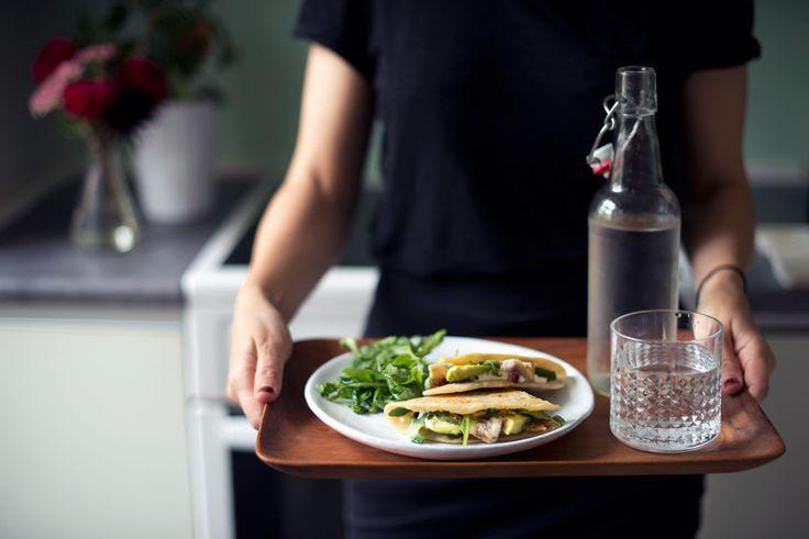 Opskrift: Quesadillas med kylling og avocado