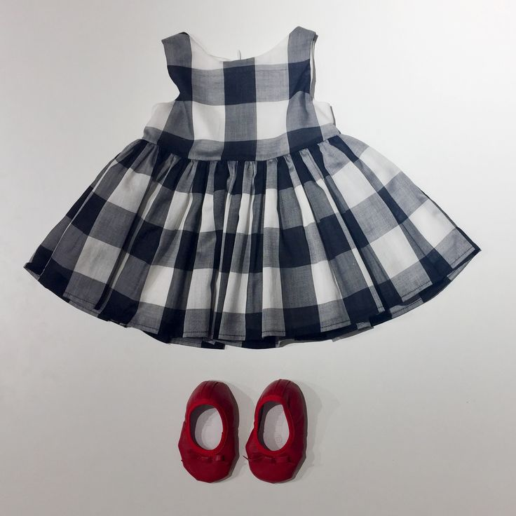 ❤️😍#charlottewix#ss17#blackandwhite#checkered#dress#fashiondesign#newcollection#red#flats#baby