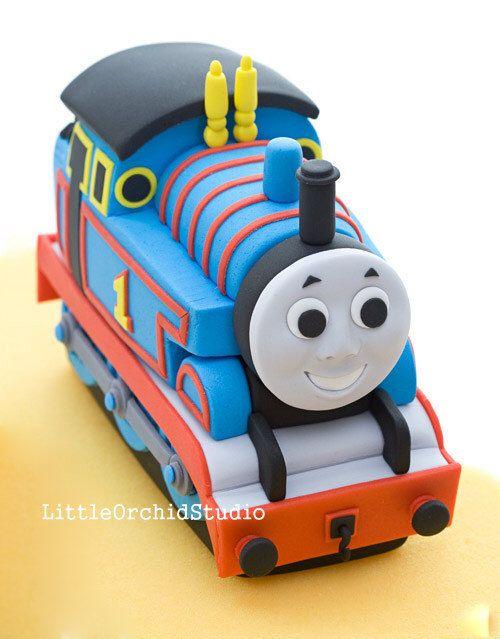 Thomas D Train Edible Fondant cake topper/ 3 D cake topper/ Train cake Topper/ Birthday/ Thomas/ Fondant/ Gum paste/ Edible by LittleOrchidStudio on Etsy https://www.etsy.com/listing/207700133/thomas-d-train-edible-fondant-cake