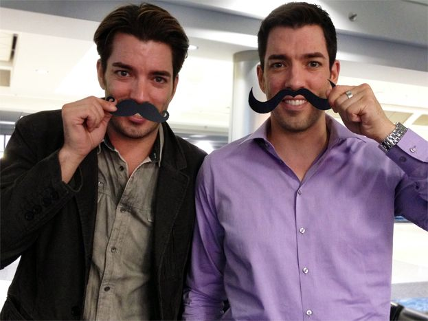 Happy #Movember From the #PropertyBrothers #Smile ! It's healthy for you ;{D  Msg us at @Drew Scott & @Jonathan Silver Scott and tell us what makes you smile!