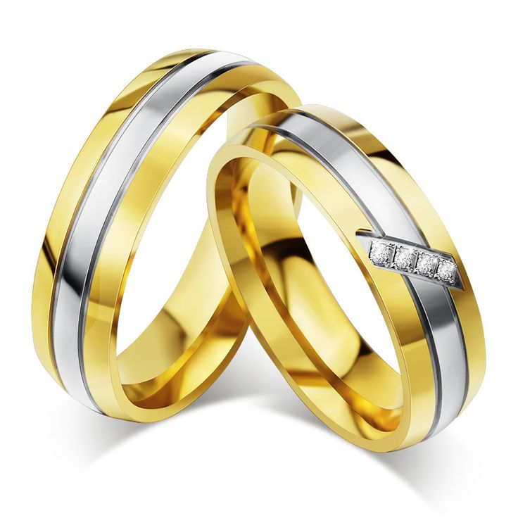 Find More Wedding Bands Information about High Quality CZ couple rings for men / womrn wedding engagement gold ring for 1pcs,High Quality gold plated ring,China gold Suppliers, Cheap gold ring from NY jewelry (no min order) on Aliexpress.com