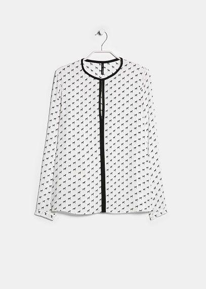 Blusa estampada vivos - Blusas y camisas de Mujer | OUTLET