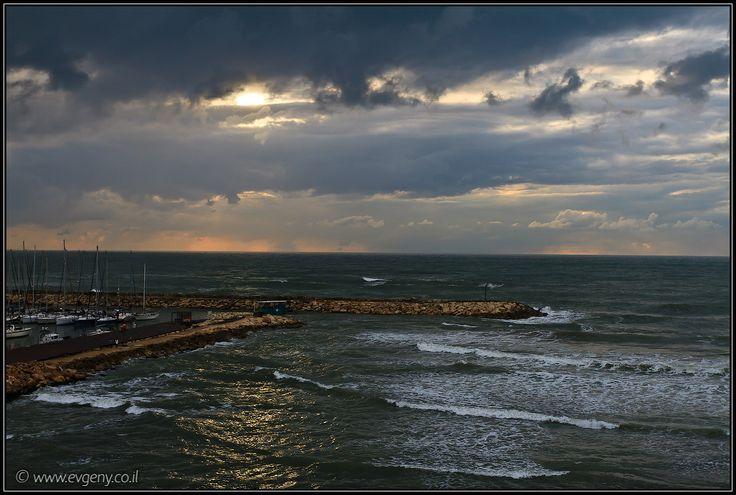 LookAtIsrael.com: Тель Авив, тучи, дождь, закат (foto israel  фото тель авив путешествия от заката до рассвета моря и океаны дождь и снег )