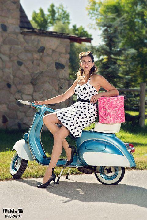 Bildergebnis für vespa retro woman -pinterest