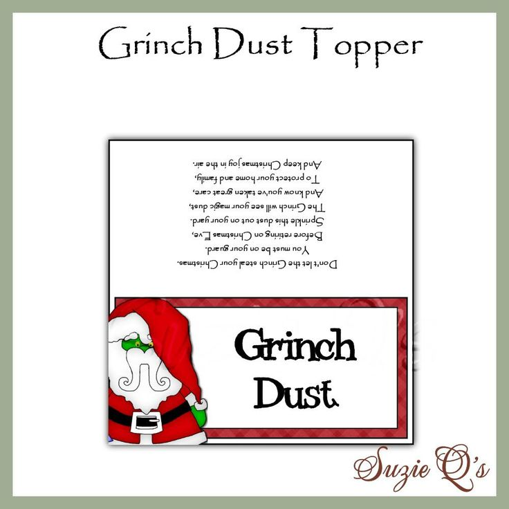 Grinch Dust Toppers Di...