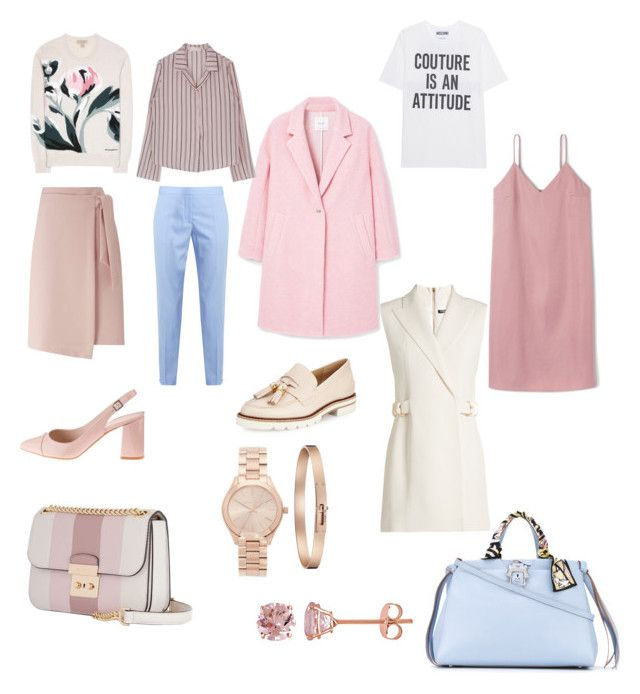 """Capsule"" by dariamedvedeva on Polyvore featuring STELLA McCARTNEY, Moschino, Stuart Weitzman, Burberry, Balmain, MICHAEL Michael Kors, MANGO, Miss Selfridge, Paula Cademartori and Michael Kors"