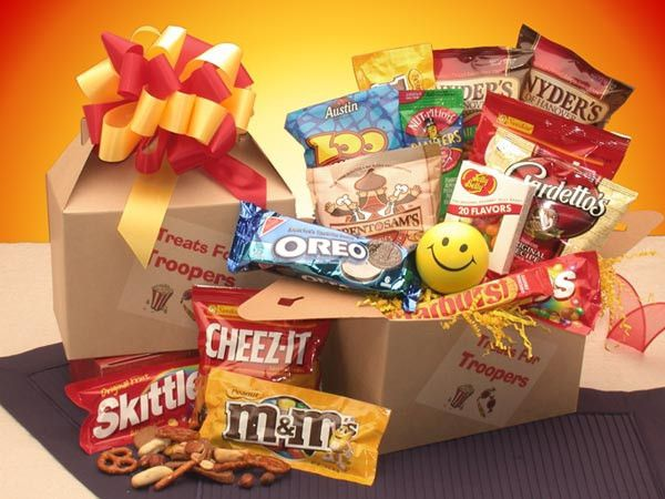 The Treats for Troopers Care Package carries your good wishes to the special trooper in your life! Across the miles, you can send a bit of American goodness to