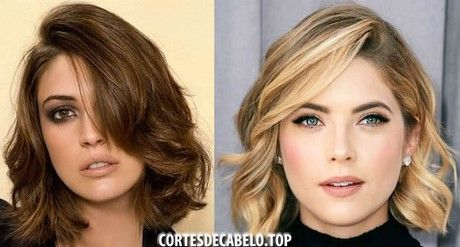 Cortes de cabelo curto para rosto redondo 2017