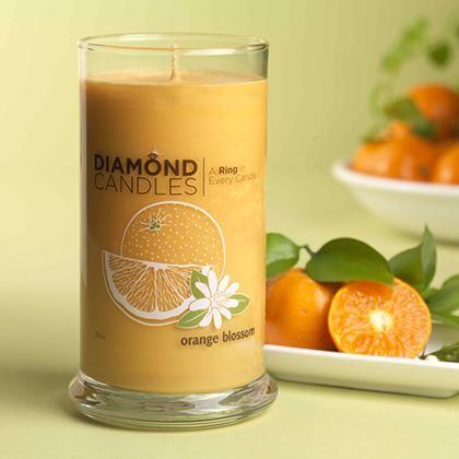 Orange Blossom Ring Candle – Diamond Candles