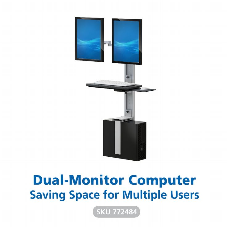 A #workstation ideal for multiple users. When data needs to be quickly entered and there's no time to get to the main station, this wall-mounted computer provides a solution that saves space and enhances productivity.