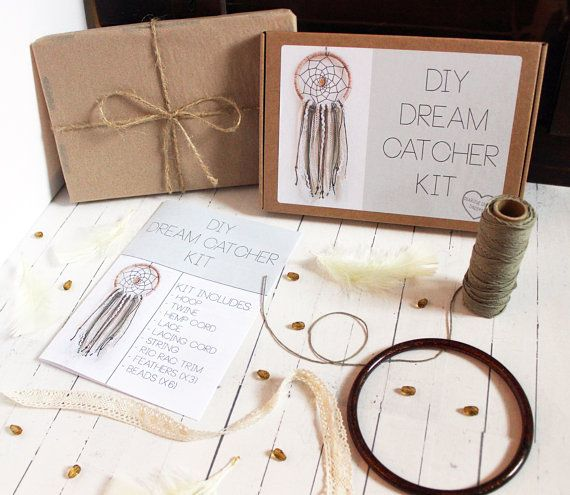 DIY DREAM CATCHER KIT This Dream Catcher Kit contains everything you need (apart from scissors and glue!) to make this Bohemian Dream Catcher.