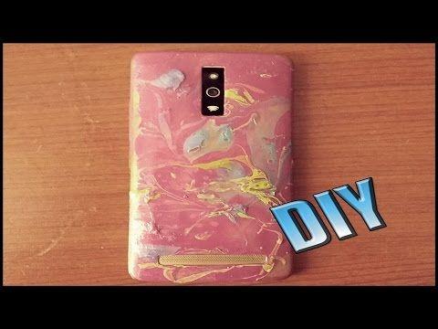 Kendin Yap-Oje İle Telefon Kılıfı Yapımı (Ebru Yöntemi) / DIY- Phone Case With Nail Polish - YouTube