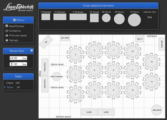 Event Layout Planning Tool.