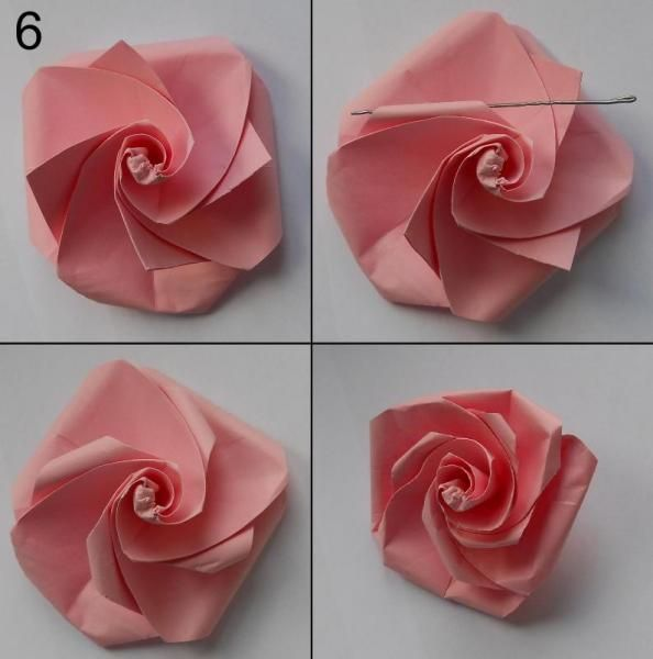 rose aus papier falten blumen basteln anleitung dekoking com 1 blume pinterest basteln. Black Bedroom Furniture Sets. Home Design Ideas