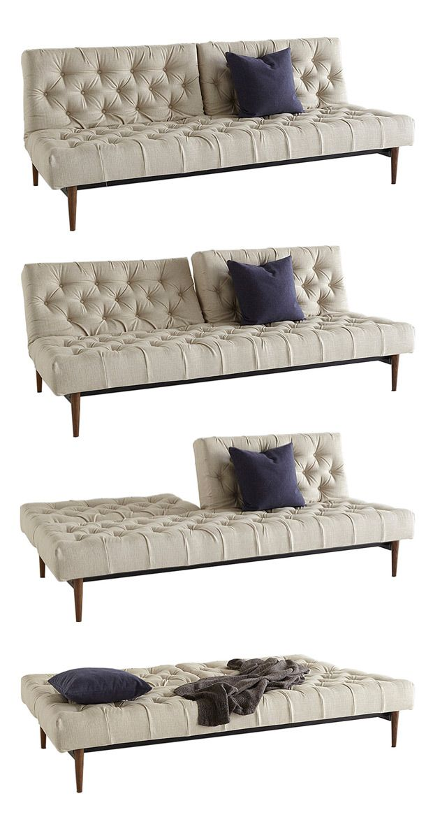 Charmingly multifunctional, this Darren Sofa Bed will allow for spatial spontaneity in your living room or spare bedroom. Elegantly button tufted, this piece will make a sophisticated sofa or temporary...  Find the Darren Sofa Bed, as seen in the Guest-Ready Home: Urban Loft Collection at http://dotandbo.com/collections/styleyourseason-guest-ready-home-urban-loft?utm_source=pinterest&utm_medium=organic&db_sku=111759