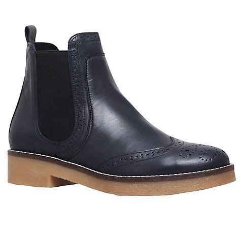 Buy Carvela Slowest Block Heeled Ankle Boots, Navy Online at johnlewis.com