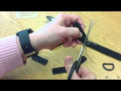 Universal cuff made with three different Velcro products - YouTube